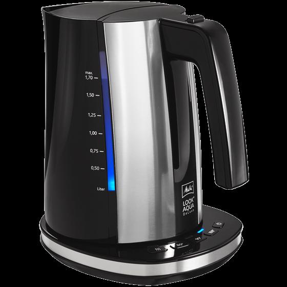 Look® Aqua DeLuxe Wasserkocher, 1,7 l, schwarz-edelstahl