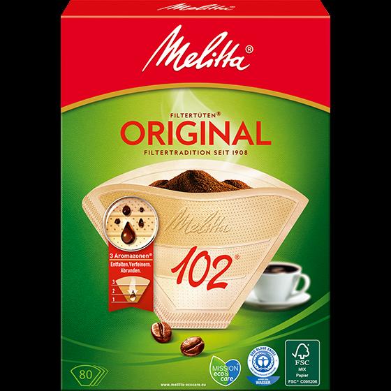 Melitta® Filtertüten® Original, 102®, braun