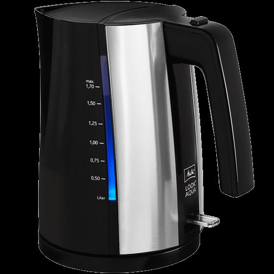 Look® Aqua Wasserkocher, 1,7 l, schwarz-edelstahl